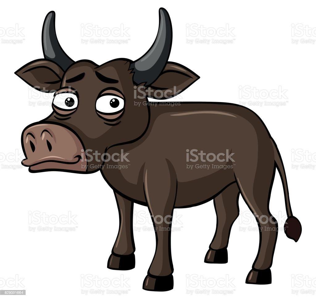 royalty free tired buffalo clip art vector images illustrations rh istockphoto com buffalo clip art silhouette buffalo clipart free