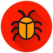 istock bug circle red flat icon 964706098