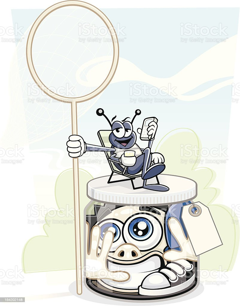 Bug Collected vector art illustration
