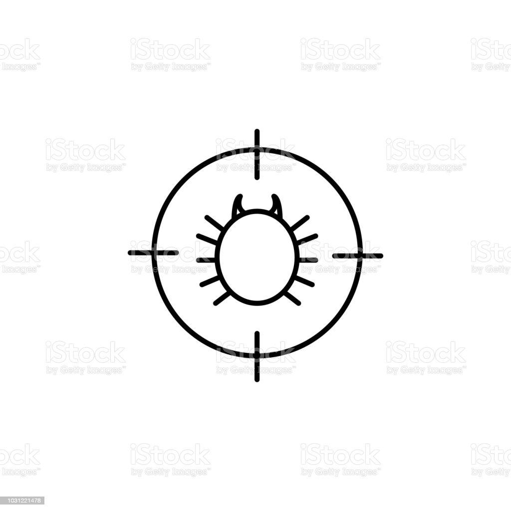 Fehlerkammerjagersymbol Element Der Pest Symbol Fur Mobile Konzept