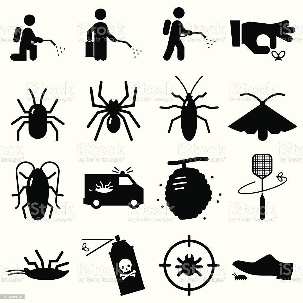 Bug preto Exterminators-série - ilustração de arte em vetor