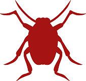Bug icon beetle isolated on white background vector