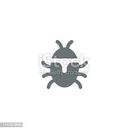Bug icon,vector illustration. EPS 10.
