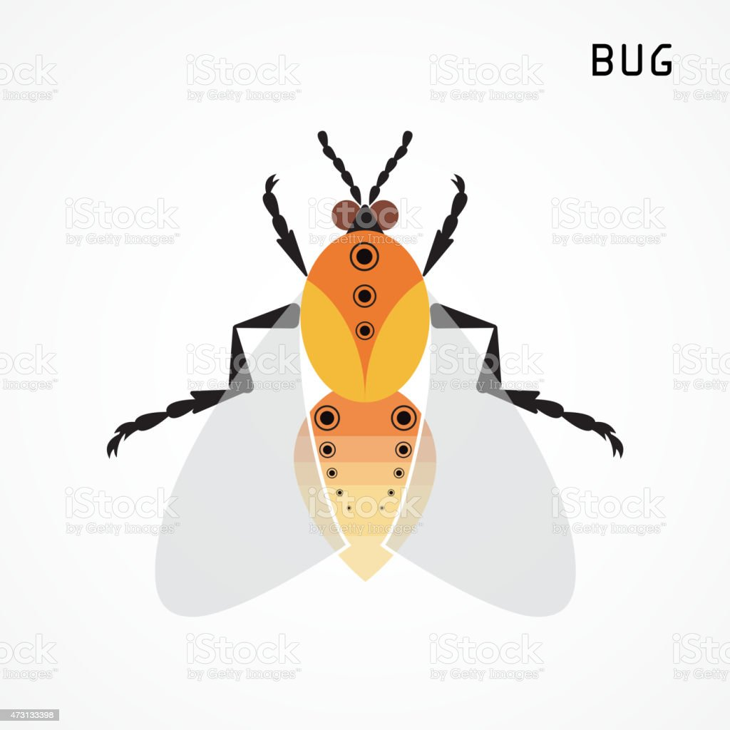 Bug sign. Insect icon. vector art illustration