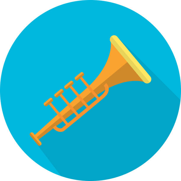 Bugle Icon Design vector art illustration