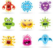 Bugs, germs and virus icons