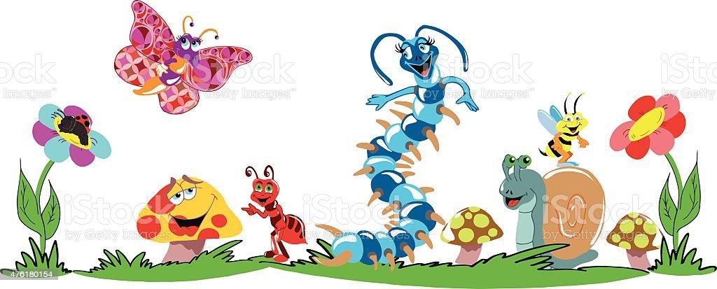 Bugs Life vector art illustration