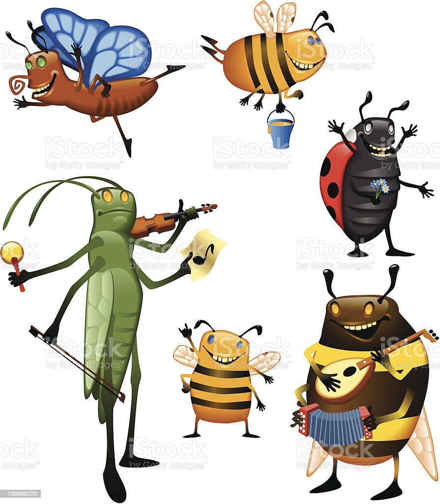 Bugs royalty-free bugs stock vector art & more images of bee