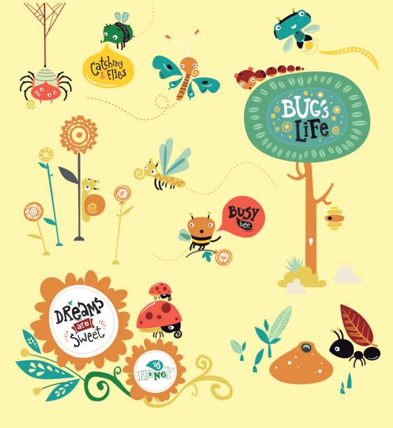 bugs world - bugs stock illustrations, clip art, cartoons, & icons