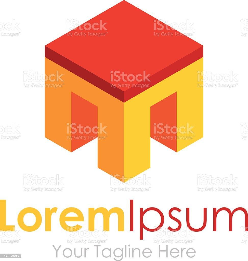 Baue Eine Glückliche Haus   3D Element Symbole Business Logo Lizenzfreies  Baue Eine Glückliche