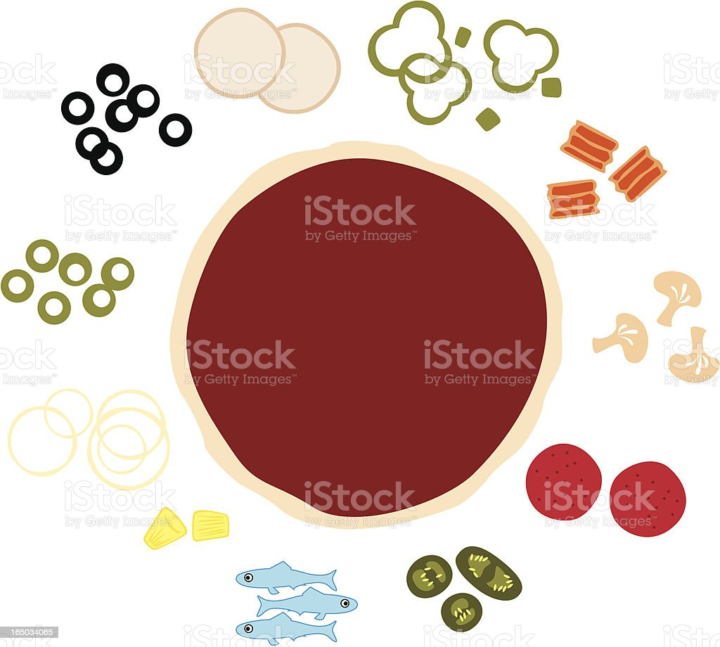 Build Your Own Pizza (vector) vector art illustration