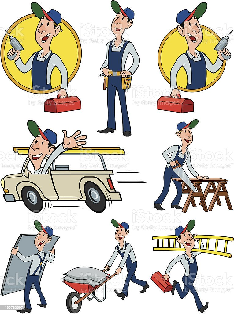 Builder Group royalty-free builder group stock vector art & more images of adult