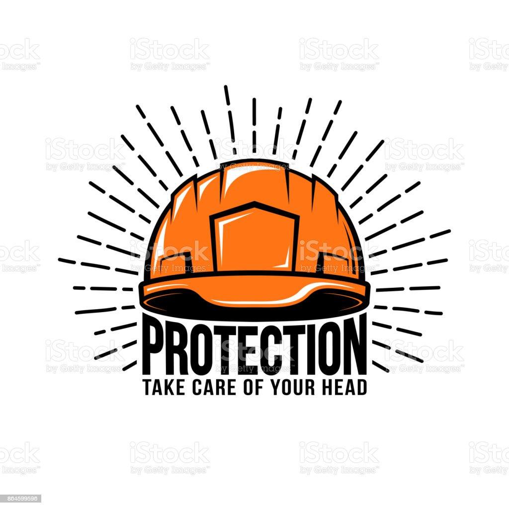builder helmet vector art illustration