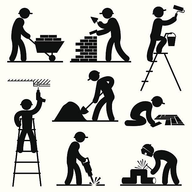 builder 名様まで収容可能 - 建設作業員点のイラスト素材/クリップアート素材/マンガ素材/アイコン素材