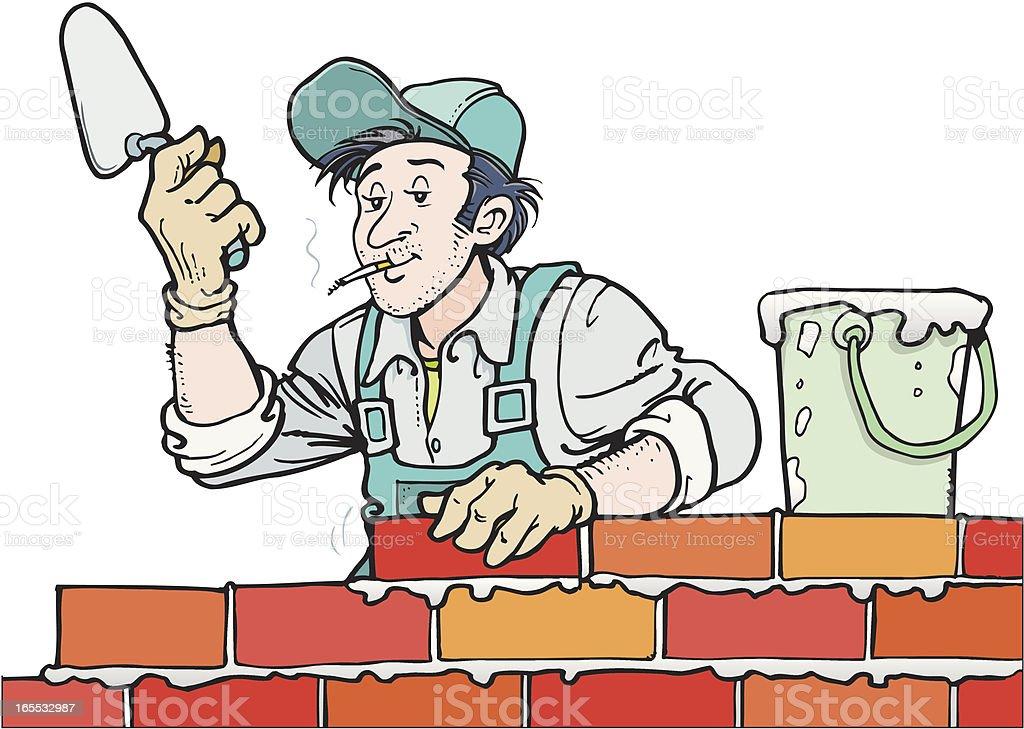 Builder vector art illustration