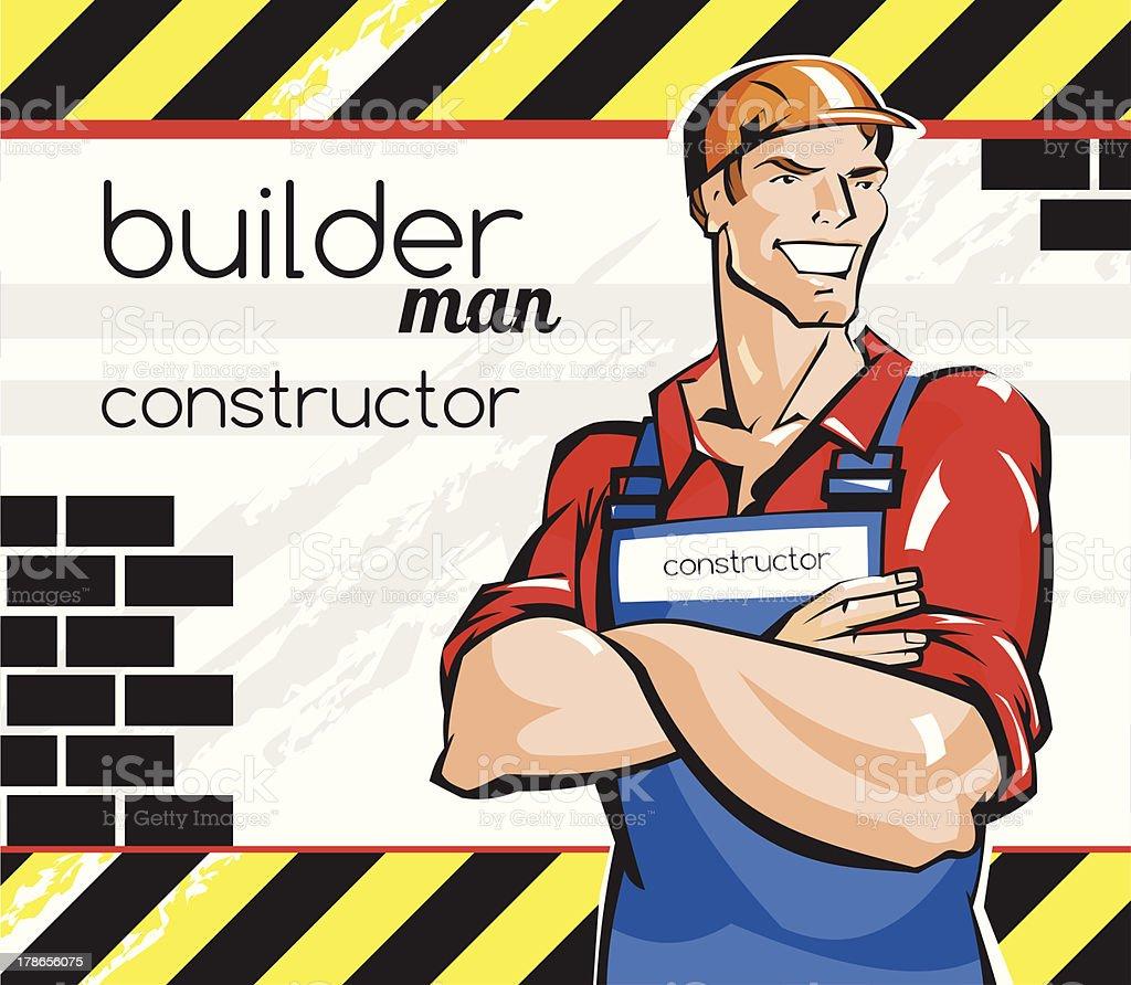 Builder royalty-free stock vector art