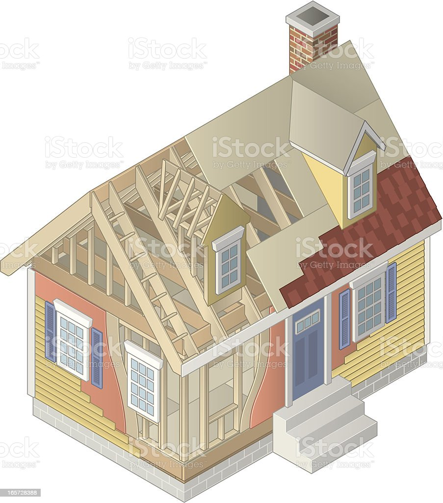 Building a House royalty-free stock vector art