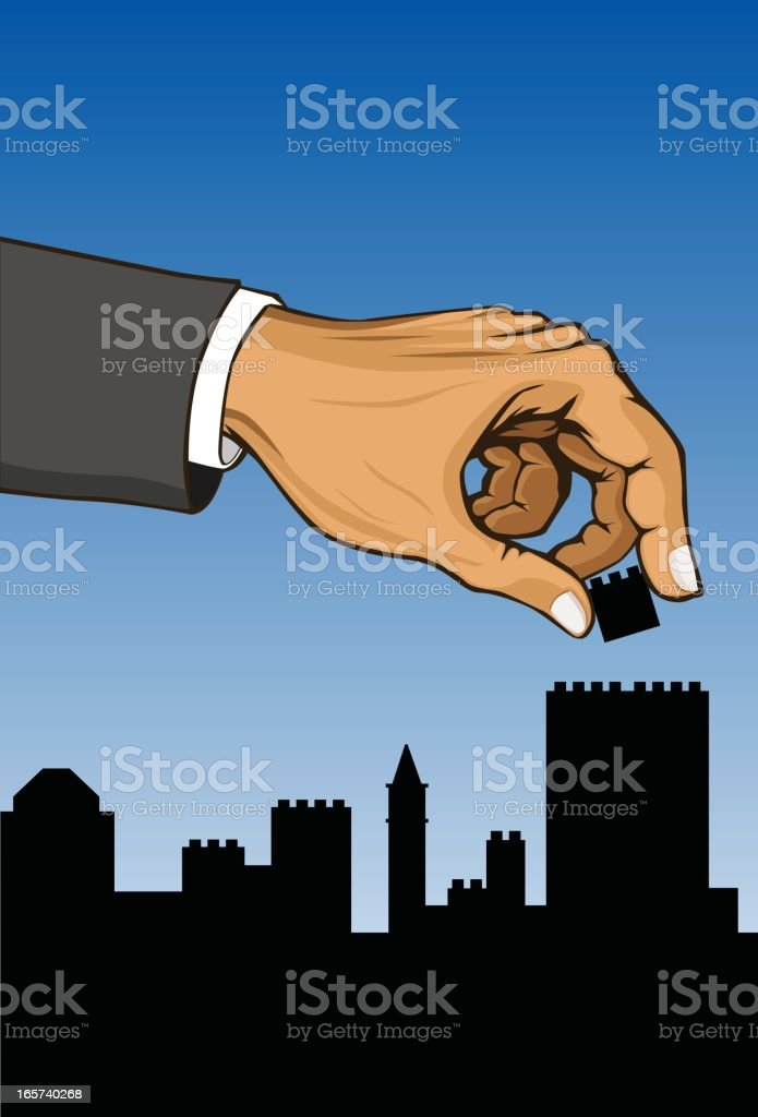 Building a Miniature Town royalty-free stock vector art