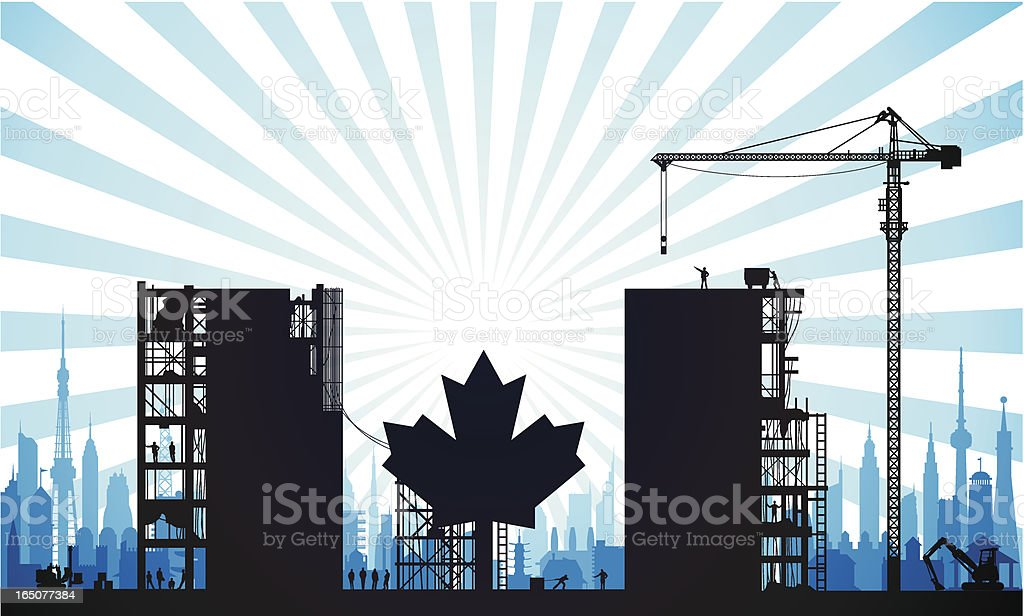 Building a New Canada royalty-free stock vector art