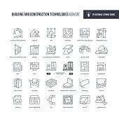 29 Building and Construction Technologies Icons - Editable Stroke - Easy to edit and customize - You can easily customize the stroke with