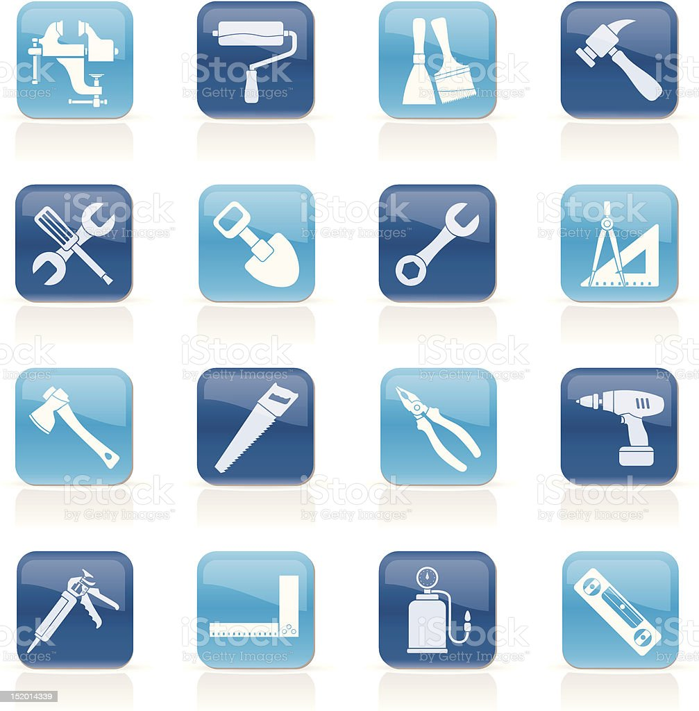 Building and Construction work tool icons royalty-free building and construction work tool icons stock vector art & more images of axe
