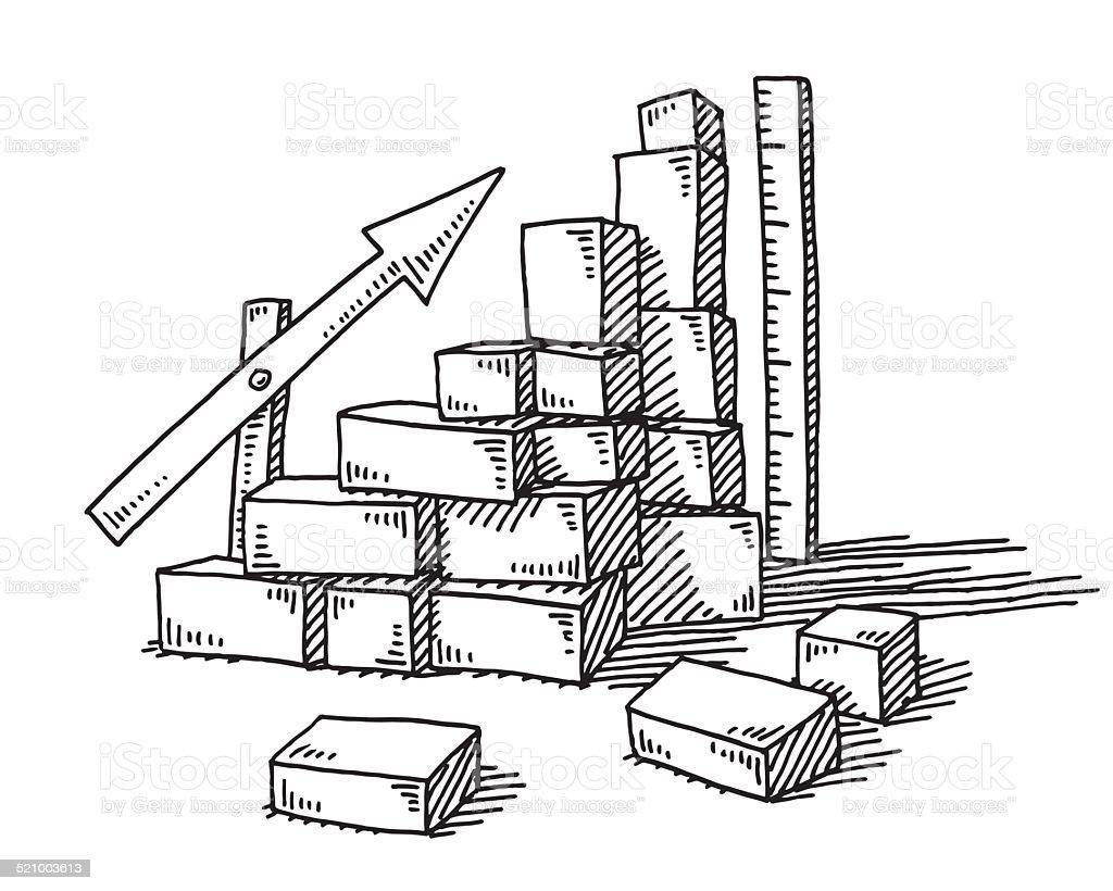 Bausteine Erfolg Diagramm Pfeil Zeichnen Stock Vektor Art und mehr ...