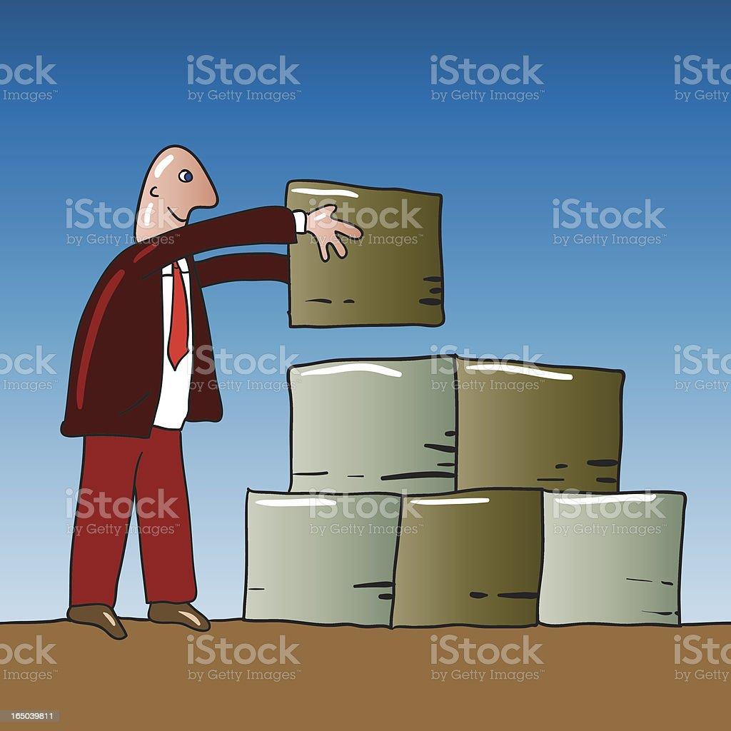 building blocks vector art illustration
