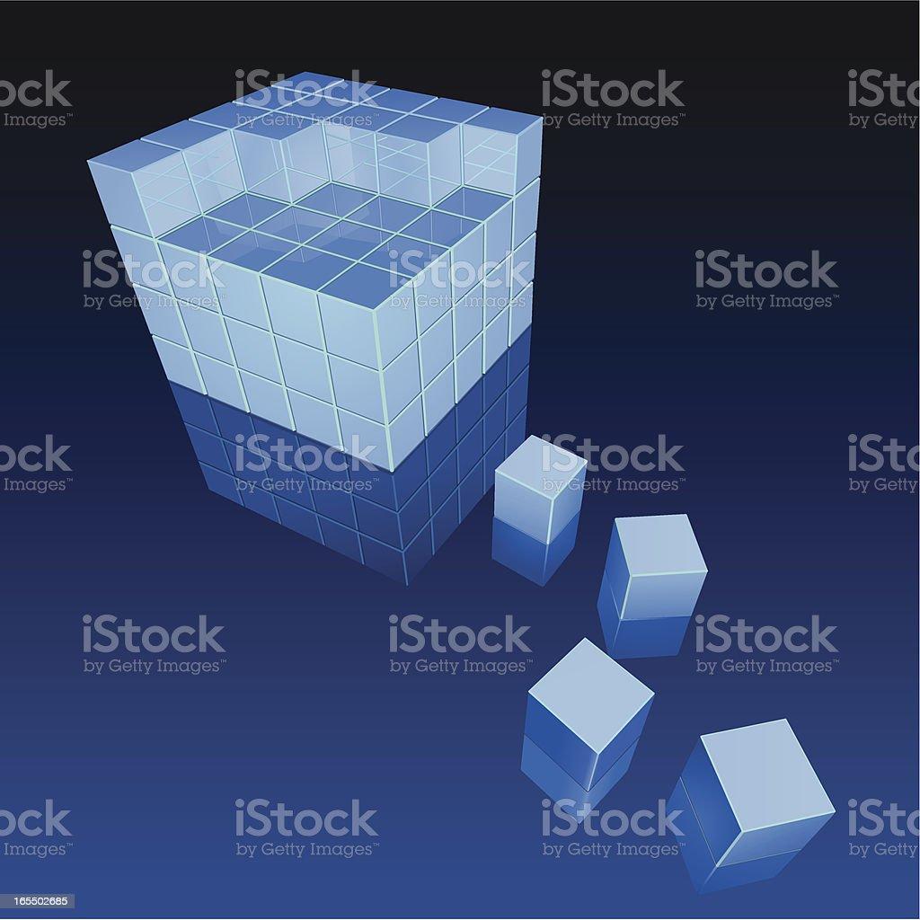 Building blocks royalty-free stock vector art