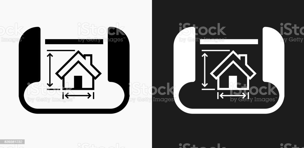 Building blueprints icon on black and white vector backgrounds stock building blueprints icon on black and white vector backgrounds royalty free building blueprints icon on malvernweather Images
