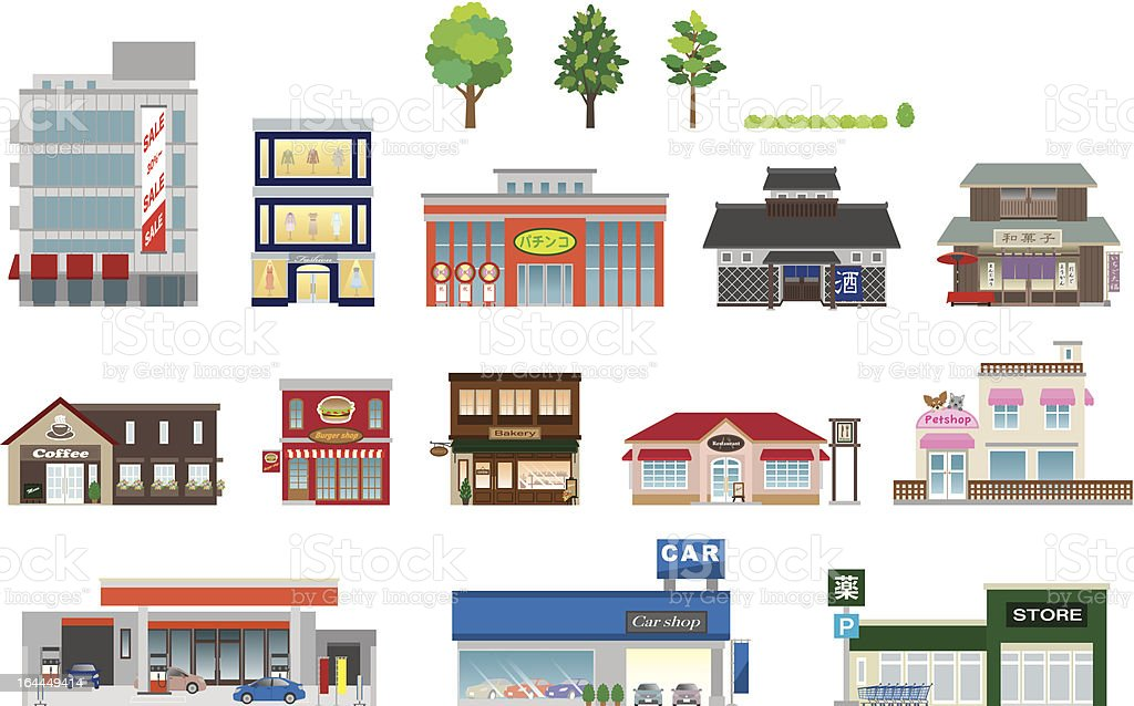 Building / Business vector art illustration