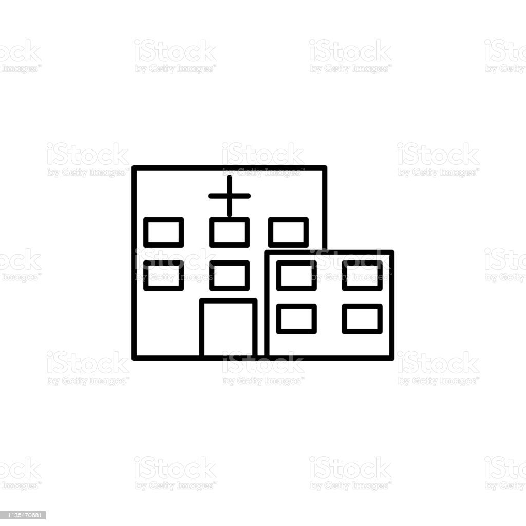 Building Clinic Hospital Icon Element Of Hospital Building