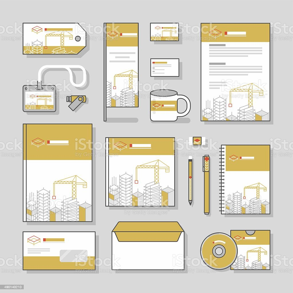 Building construction corporate identity template stationery design building construction corporate identity template stationery design set and business stationery royalty free building construction accmission Image collections