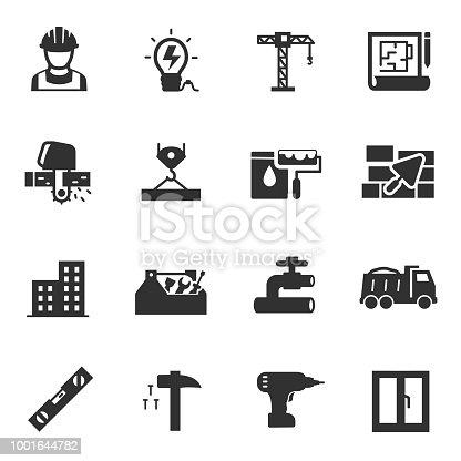 Ilustración de La Construcción De Edificios Conjunto De