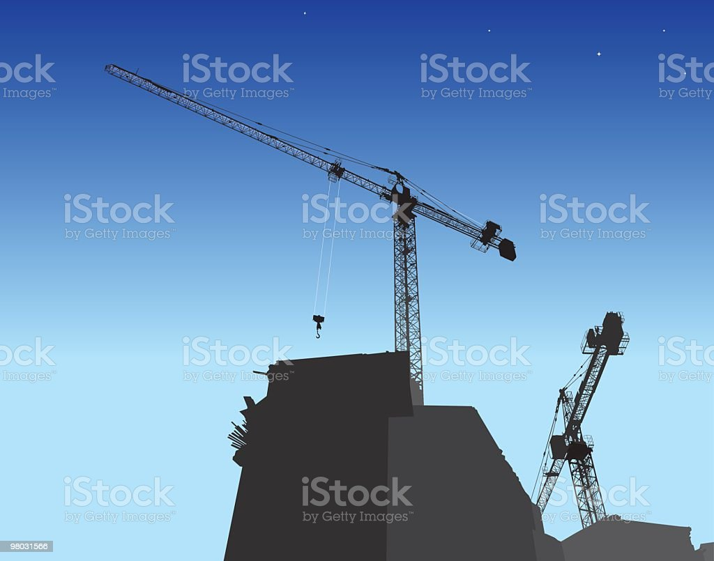 building construction site royalty-free building construction site stock vector art & more images of building - activity