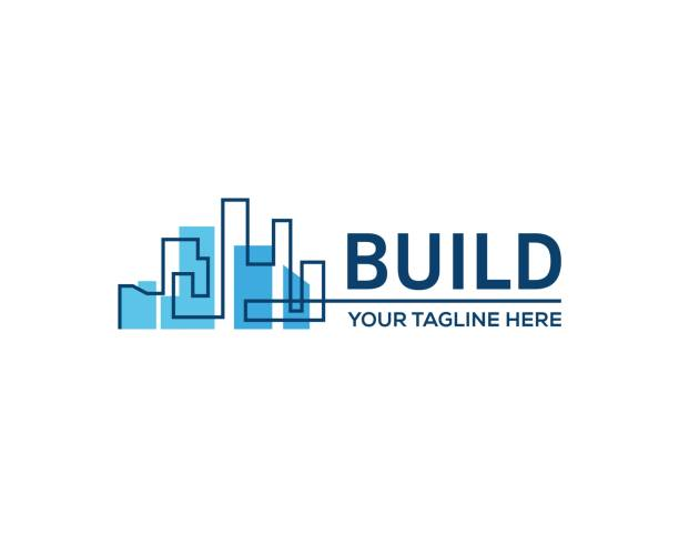 Building construction. Real estate business sign, vector symbol template. home ownership stock illustrations