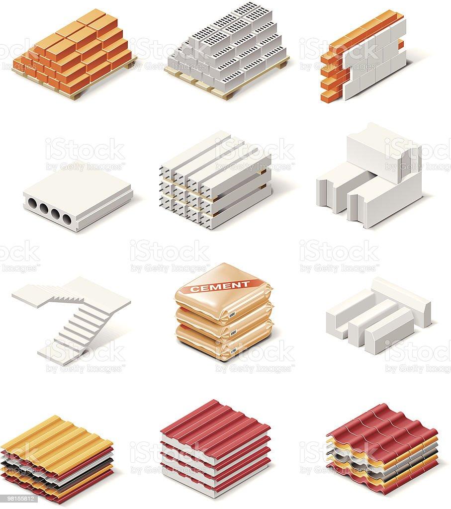 Elementi di icone edificio elementi di icone edificio - immagini vettoriali stock e altre immagini di a forma di blocco royalty-free