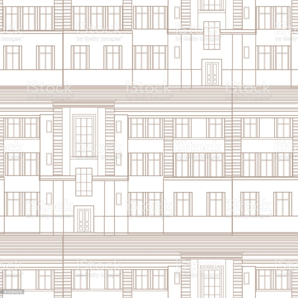 Building facade seamless pattern retro architectural blueprint building facade seamless pattern retro architectural blueprint background with windows royalty free building facade malvernweather Images