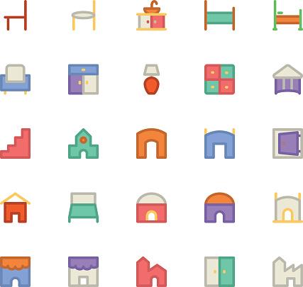 Building & Furniture Vector Icon 11