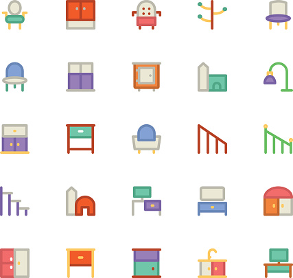 Building & Furniture Vector Icon 15