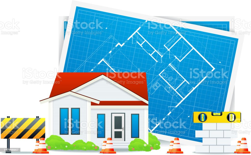 Building house royalty-free stock vector art
