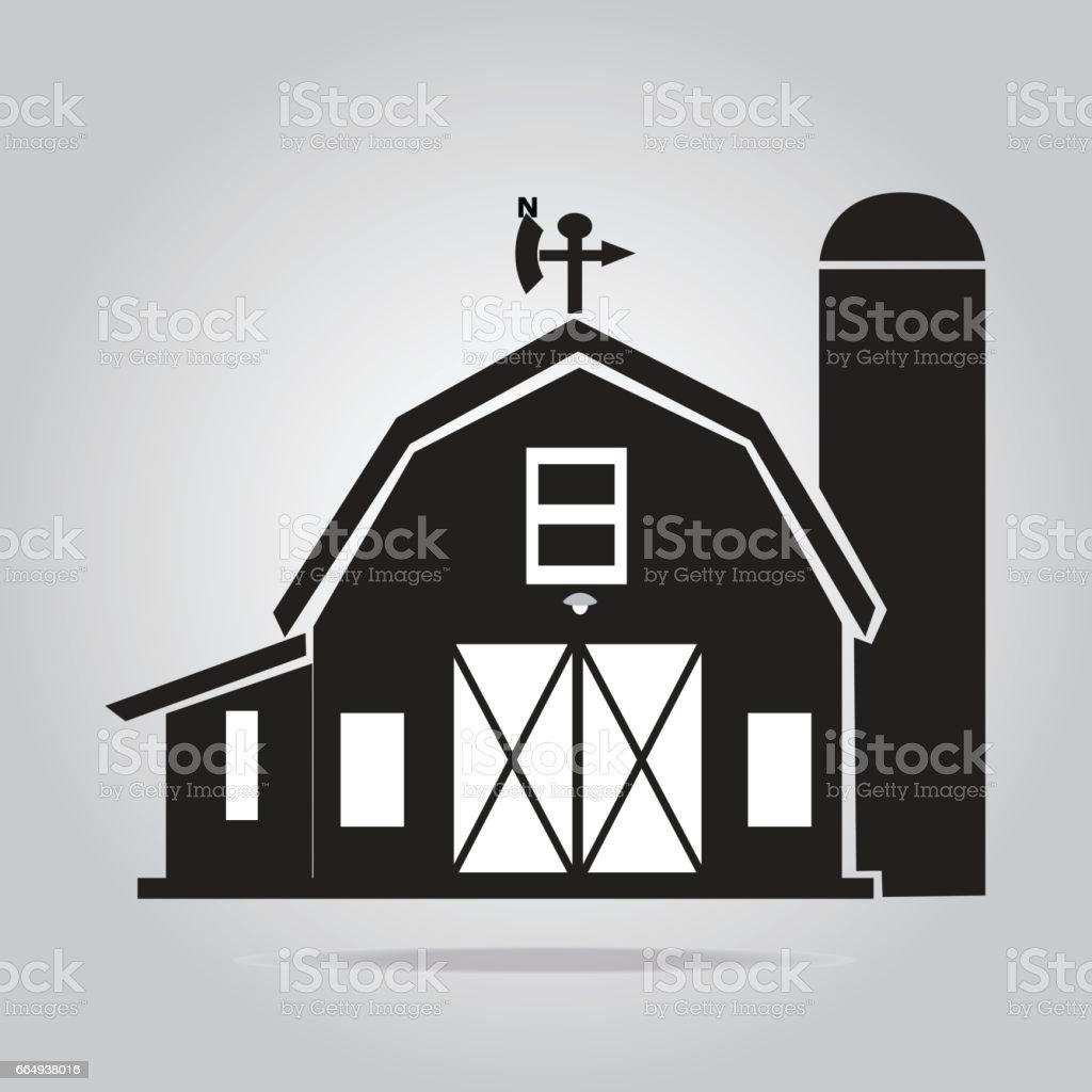 Building icon, barn vector illustration vector art illustration