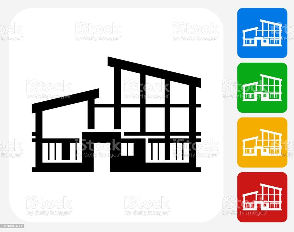 Building icon flat graphic design stock vector art more for Apartment design vector