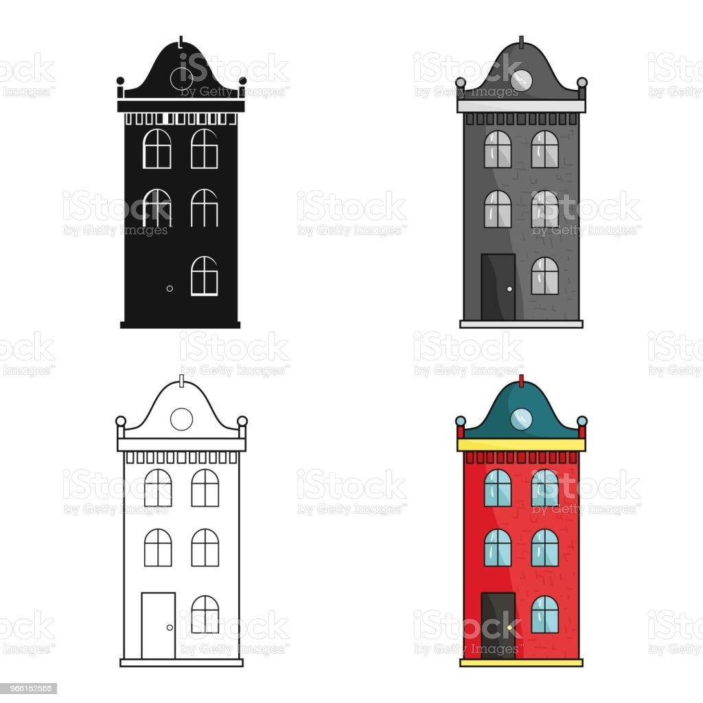 Gebäude-Symbol im Cartoon-Stil, die isoliert auf weißem Hintergrund. Architekt Symbol Lager Web Vektorgrafik. - Lizenzfrei Architektur Vektorgrafik