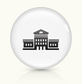 Building icon on white round vector button