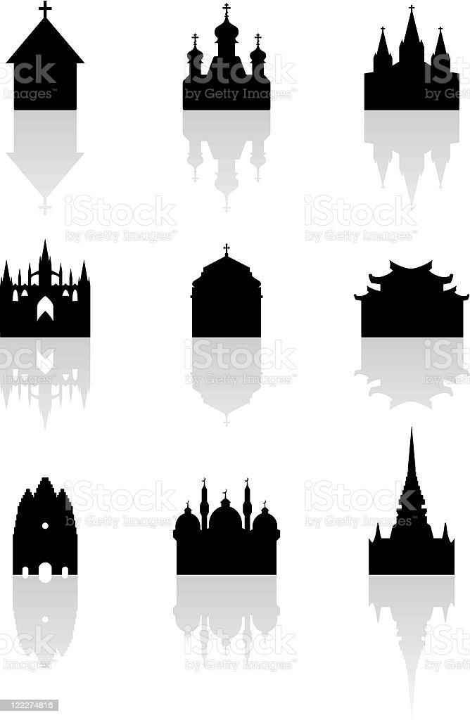 Building icon set royalty-free stock vector art