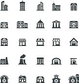 Vector illustration of the building icon set.