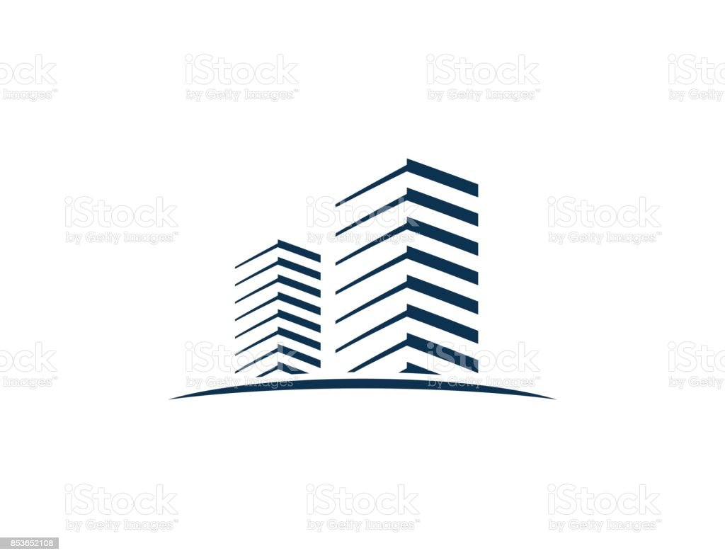建物のアイコン ベクターアートイラスト