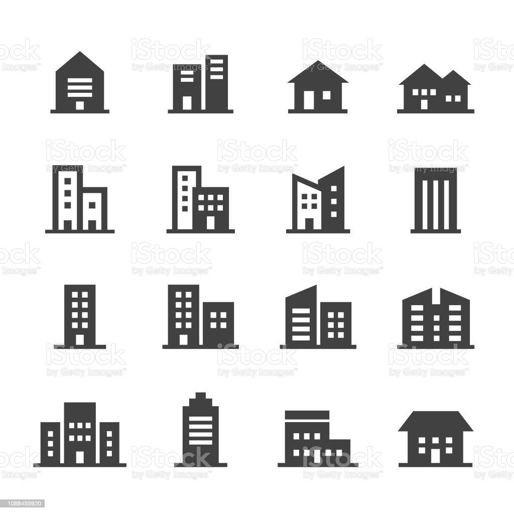 Gebäude-Icons - Acme-Serie - Lizenzfrei Architektur Vektorgrafik