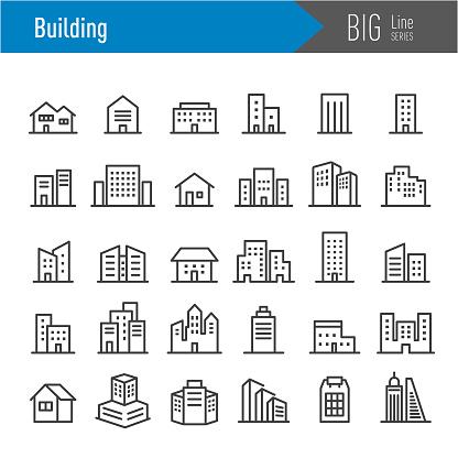 Building Icons - Big Line Series