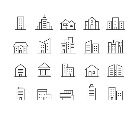 Building Icons - Classic Line Series